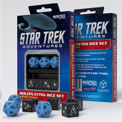 Star Trek - Adventures - Blå Terninger - Rollespilstilbehør
