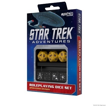 Star Trek - Adventures - Gule Terninger - Rollespilstilbehør