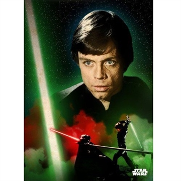 Star Wars - Luke Duel - 32 x 45 cm Metal Skilt