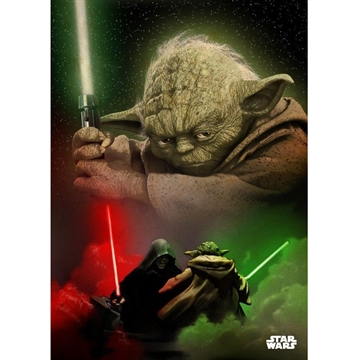 Star Wars - Yoda - 32 x 45 cm Metal Skilt