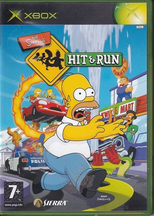 The Simpsons Hit & Run - XBOX (B Grade) (Genbrug)