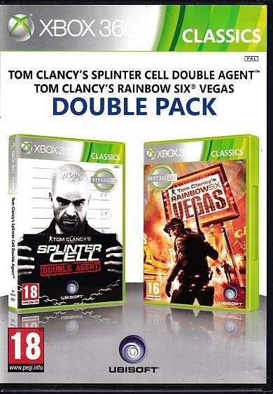 Tom Clancy's Splinter Cell Double Agent + Tom Clancy's Rainbow Six Vegas Double Pack - XBOX 360 - Classics (B Grade) (Genbrug)
