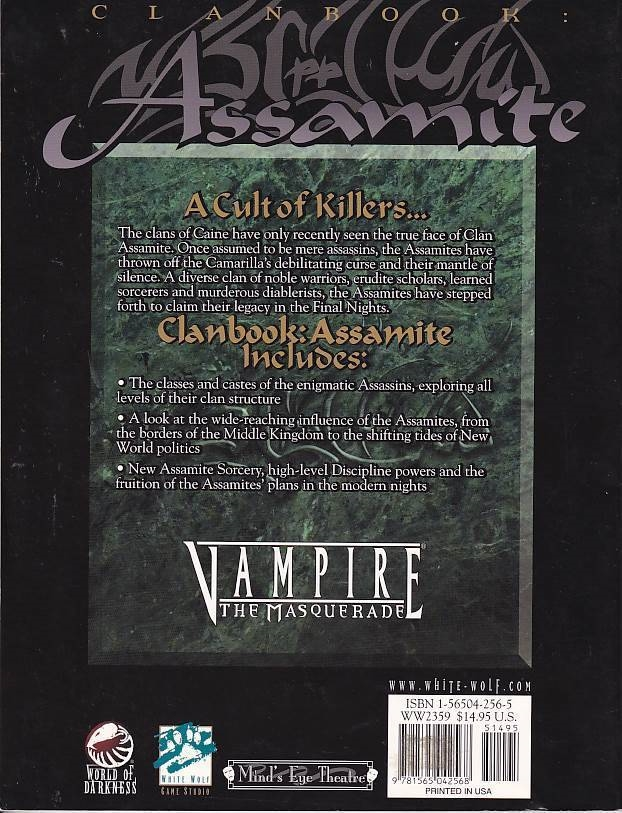 Vampire the Masquerade - Clanbook Assamite Revised Edition (Genbrug)