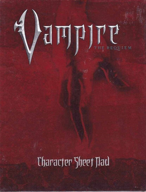 Vampire the Requiem - Character sheetpad (A Grade) (Genbrug)