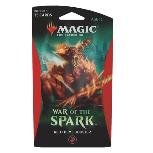 War of the Spark - Rød Theme Booster - Magic the Gathering