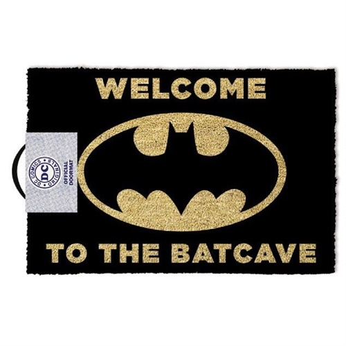 Welcome to the Batcave Sort/Gul - Grovmåtte 40x60cm