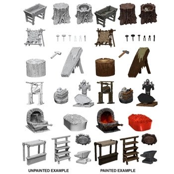 WizKids Deep Cuts Miniatures - Townspeople & Accessories - Rollespils Terræn