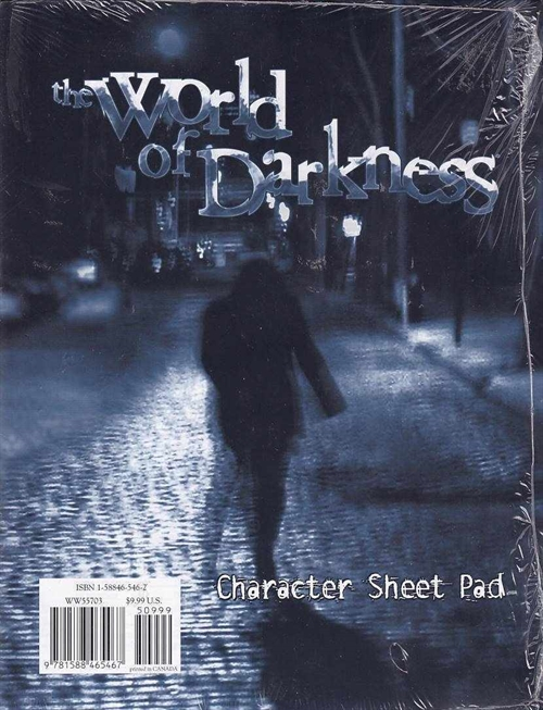 World of Darkness - Character sheetpad (A Grade) (Genbrug)