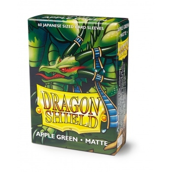Yu-Gi-Oh tilbehør - Matte Apple Green (60 small Sleeves) - Dragon Shield