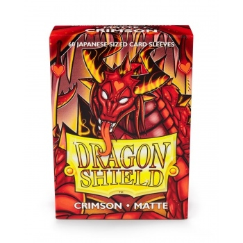 Yu-Gi-Oh tilbehør - Matte Crimson (60 small Sleeves) - Dragon Shield