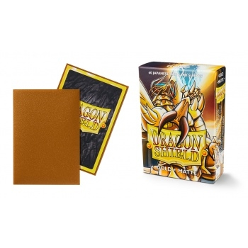 Yu-Gi-Oh tilbehør - Matte Gold (60 small Sleeves) - Dragon Shield