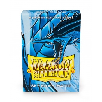 Yu-Gi-Oh tilbehør - Matte Sky Blue(60 small Sleeves) - Dragon Shield
