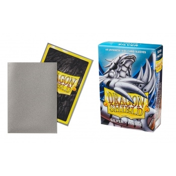 Yu-Gi-Oh tilbehør - Matte Silver (60 small Sleeves) - Dragon Shield