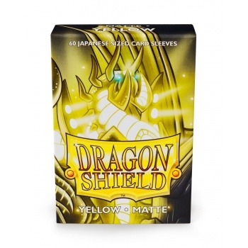 Yu-Gi-Oh tilbehør - Matte Yellow (60 small Sleeves) - Dragon Shield