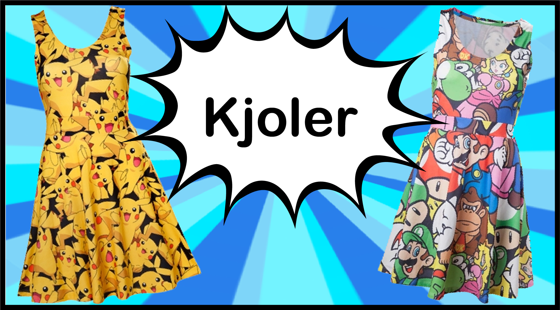Kjoler. Pokemon, Adventure Time, Maria, Spiderman, Kvalitet